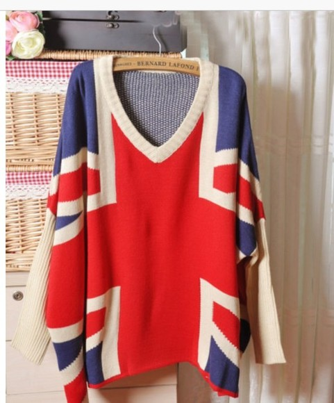 sweater union jack england british flag soft grunge oversized sweater