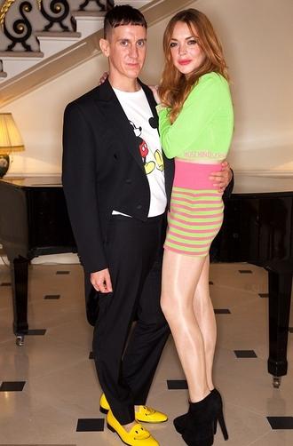 skirt top lindsay lohan booties shoes boyfriend menswear shoes