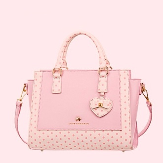 bag pink bag polka dots polka dot bag
