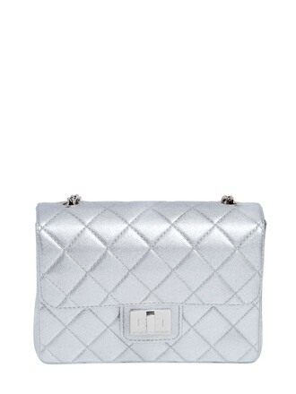 quilted bag shoulder bag silver