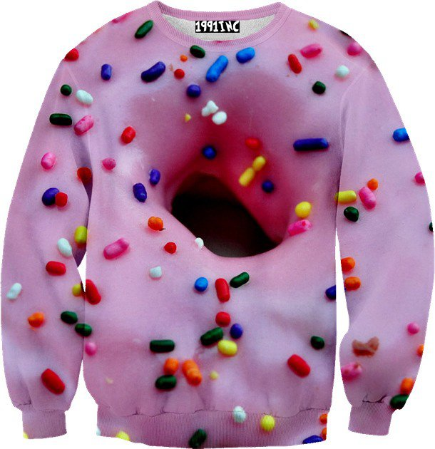 Donut Sprinkles Sweater on Wanelo