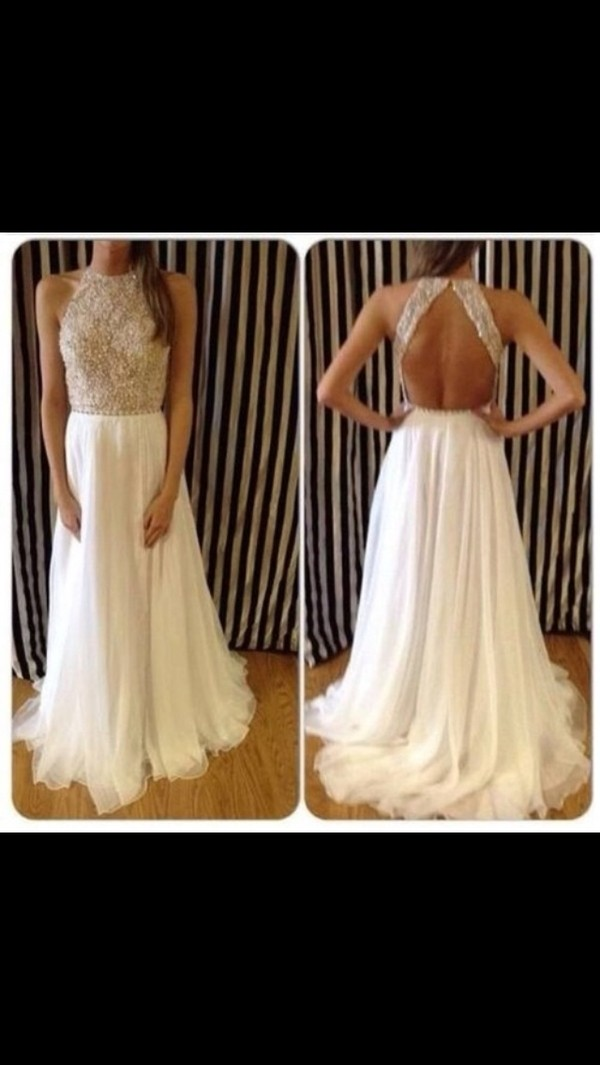dress prom dress long prom dress jewelled top sparkle prom sequince open back open back dresses white dress sherri hill white long ball sequins prom dress love nude long sequin white long dress sparklely pretty gold white flowy dress jewled 2014 prom dress long prom dress maxi dress glitter dress chiffon