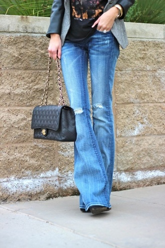 jeans denim chanel ring t-shirt jacket bag