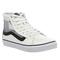 Vans sk8 hi slim white black mesh - hers trainers