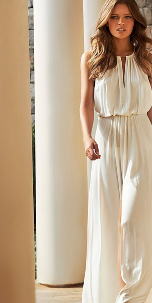 a30542d3891 jumpsuit white white jumpsuit summer dress spring 2015 spring summer 2015  fashion style trendy cool elegant