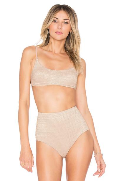 Zimmermann bikini bikini top metallic neutral swimwear