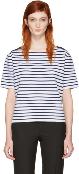 Burberry t-shirt shirt t-shirt navy white top