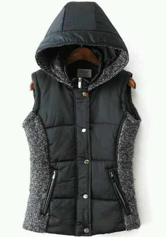 coat vest fall coat black