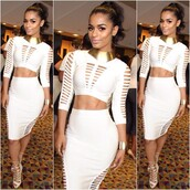 dress,dream it wear it,white,white dress,party,party dress,two-piece,long sleeves,long sleeve dress,cut-out,cut-out dress,bodycon,bodycon dress,sexy party dresses,party outfits,summer dress,summer outfits,spring dress,spring outfits,fall dress,fall outfits,winter dress,winter outfits,classy,classy dress,elegant,elegant dress,cocktail,cocktail dress,girly,date outfit,birthday dress,holiday dress,holiday season,christmas dress,romantic,romantic dress,pool party,clubwear,club dress,new year's eve,dope,style,beautiful,cute,outfit idea,outfit,hot