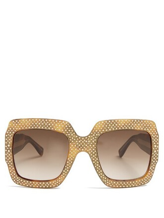 oversized embellished sunglasses