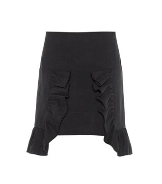 miniskirt cotton black skirt