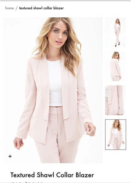 Jacket: blush pink, blazer, forever 21 - Wheretoget