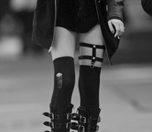 pants,ripped,black,garter,studs,pinterest,tumblr