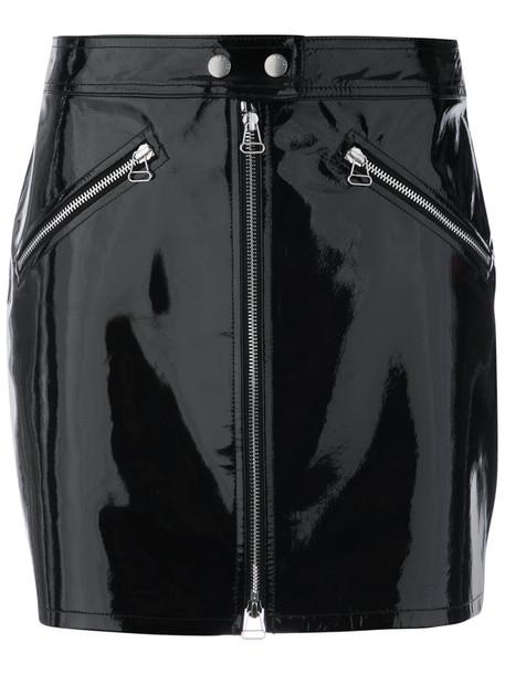 Rag & Bone skirt women spandex leather cotton black