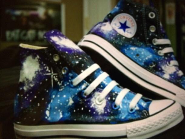 shoes galaxy converse galaxy print high top converse