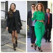 jacket,green,blazer,cropped,pants