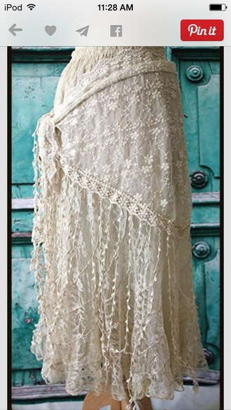 white lace skirt country style western senior pictures