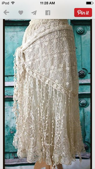 country western skirt white lace senior pictures