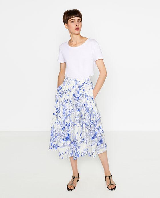 Skirts Zara Printed Skirt