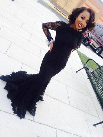 dress black dress mermaid prom dress long prom dress prom dress lace dress