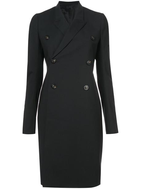 coat women spandex black wool