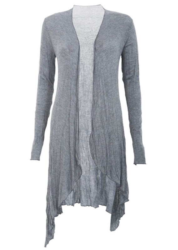 Waterfall Cardigan | Waterfall cardigans | Grey Jersey long ...