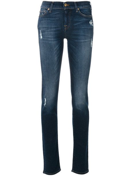 7 For All Mankind jeans women spandex cotton blue