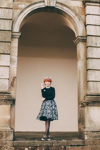 the clothes blogger skirt midi skirt jacquard