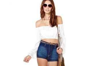 shirt off the shoulder off the shoulder crop top crop tops white bag