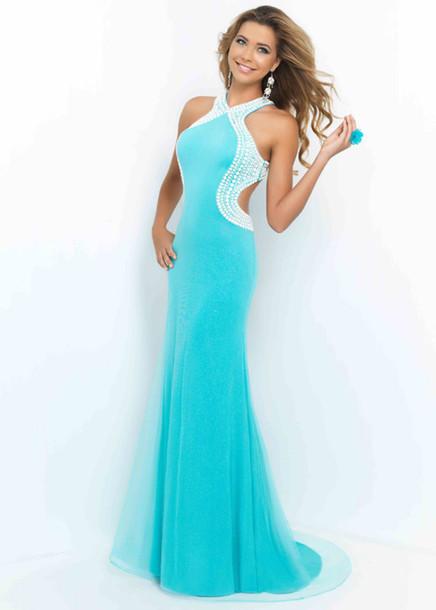 prom dress dress blue dress