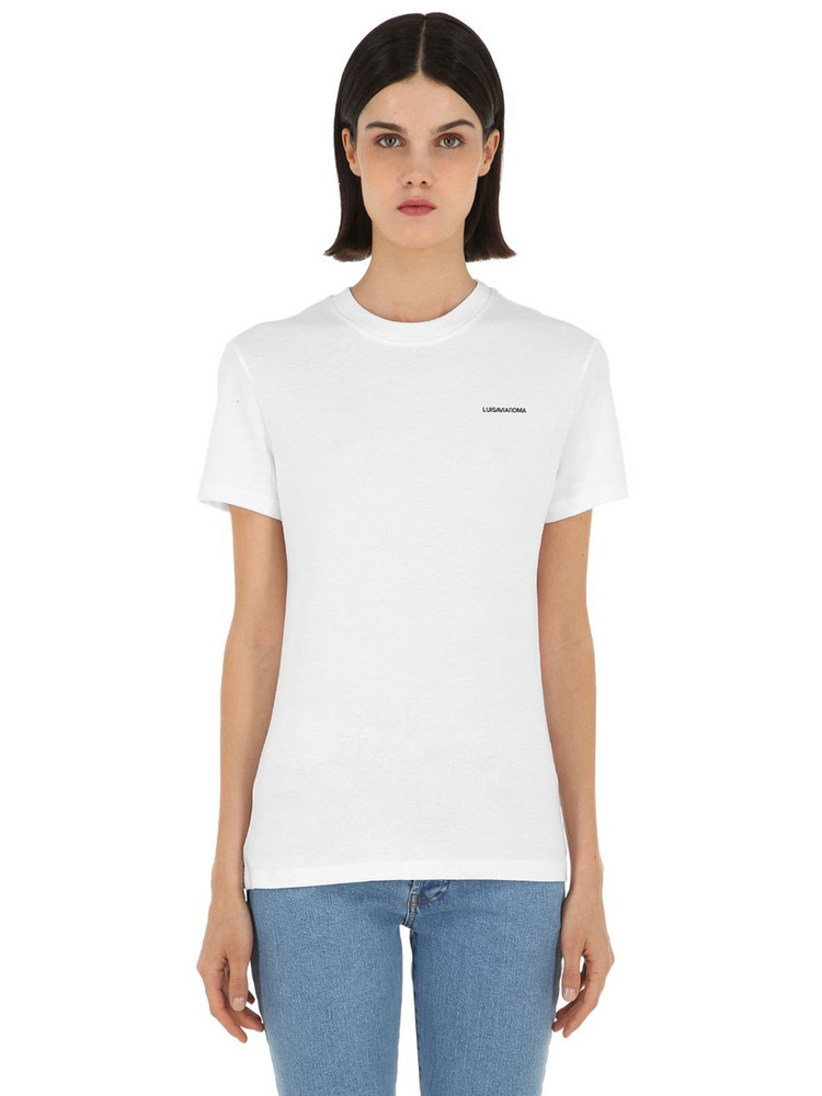 LUISA VIA ROMA Luisaviaroma Cotton Jersey T-shirt in white