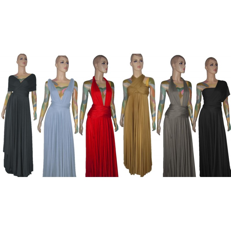 Size Convertible Dress Bridesmaid Infinity Long Prom Gown Xs 5xl