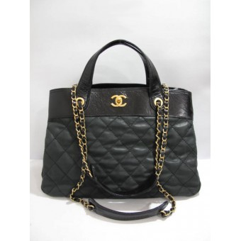 "Chanel Classic ""In The Mix"" Tote Chain Bag Black- Chanel Classic In The Mix Tote Chain Tote Black