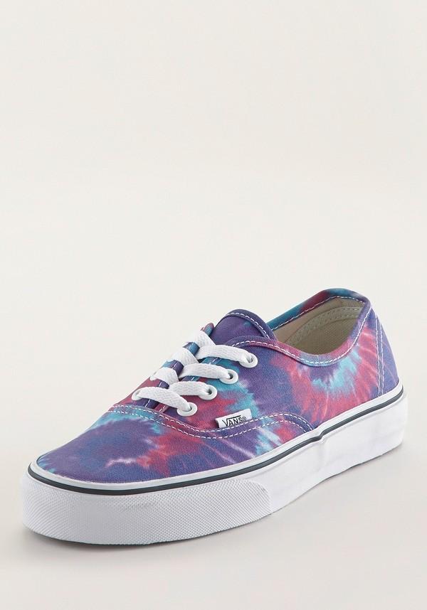 shoes tie dye vans vans batik colorful hipster grunge