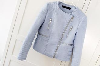 jacket baby blue zara zara inspired