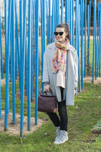 punky b blogger blue coat light blue top shoes