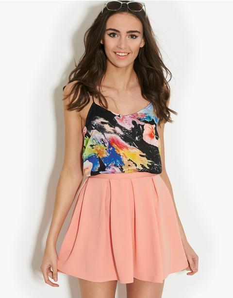Glamorous Pleated Skater Skirt | BANK Fashion