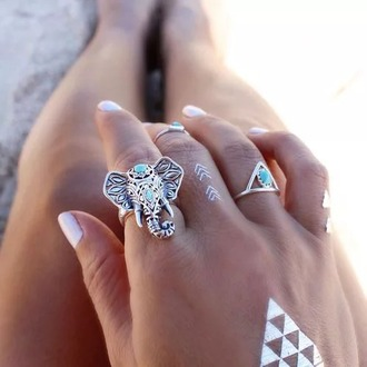 jewels rings silver big rings elephant ring summer trend hot topic summer ring elephant head piece statement ring