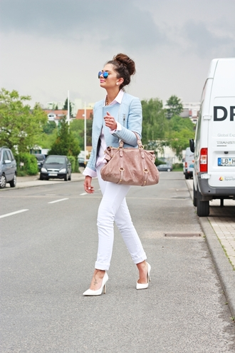 fashionhippieloves jacket blouse jeans shoes bag sunglasses jewels
