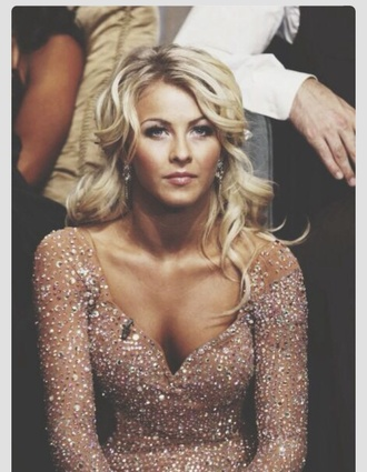 taupe sequins julianne hough sweetheart cut