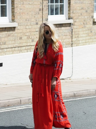 dress tumblr red dress embroidered dress embroidered maxi dress long dress sunglasses plus size dress curvy dress
