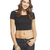 Double Scoop Crop Tee | Wet Seal
