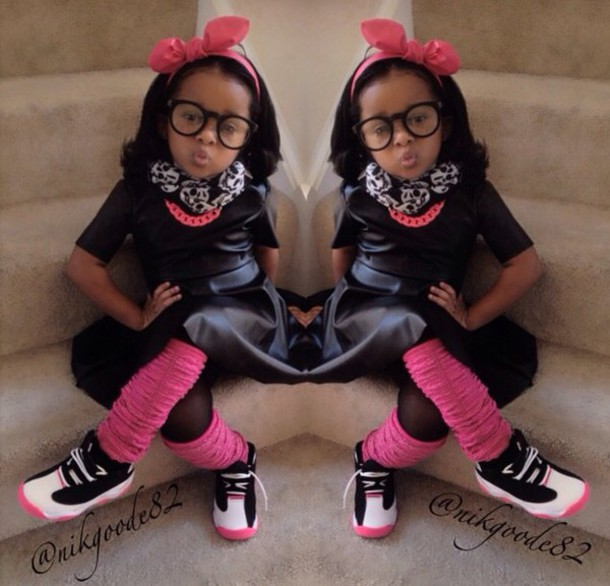 hair accessory pink chain leather shirt leather dress pink pink and black fashion glasses bows hair bow nerd nerd glasses scarf chain chain link chain necklace kids fashion leather leather skirt leather dress legs warmers jordans jordans jordan jordans Nyla Milan