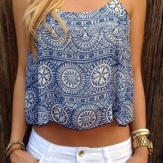vest top aztec aztec crop top