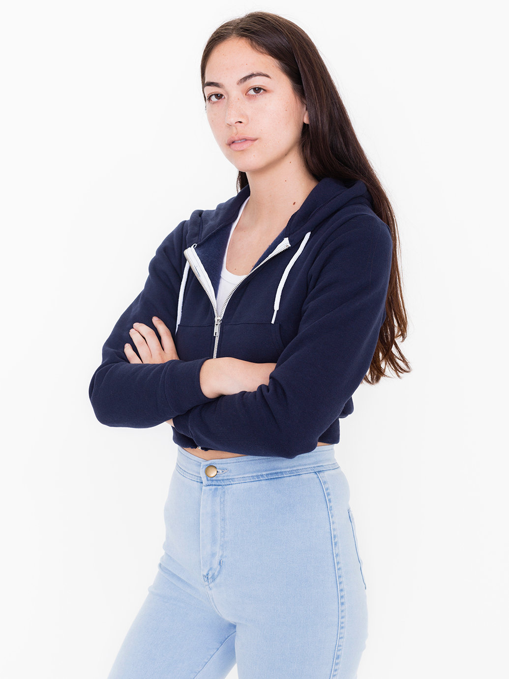 8440990e6c Cropped Flex Fleece Zip Hoodie | American Apparel