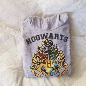 sweater sweatshirt shirt hogwarts grey harry potter harry potter sweatshirt magic grey sweater casual sweater grey