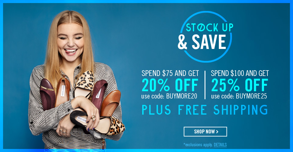 Free Shipping, No minimum | Shop Steve Madden Shoes & Handbags