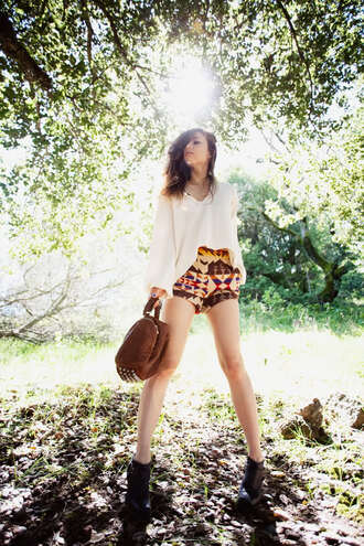 shorts rumi fashion toast brown shorts orange shorts