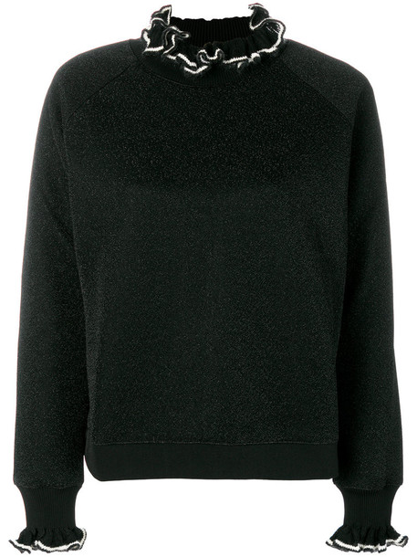 jumper women spandex mohair black sweater