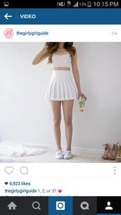 skirt,cute skirt,fashion,tumblr outfit,tennis skirt